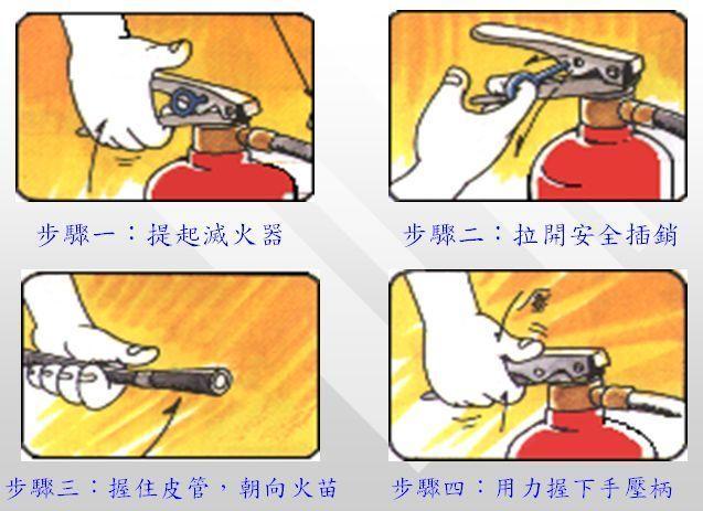 如何使用灭火器