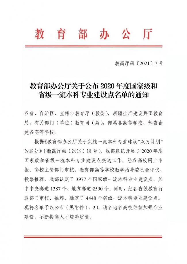 """喜讯!汉口学院管理学院3个专业入选""""省级一流本科专业建设点"""""""